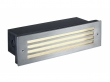 BRICK MESH LED RVS 316 inbouw wandarmatuur, 4W LED, warm wit, IP54 (229110)