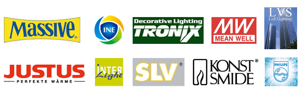 Dealer van massief, interlight, lvs, lsv, kunstsmide, justus, philips, ine, tronix en meanwell