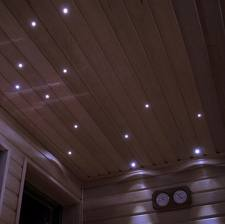 the acrylic tubes are easily mounted through holes in the ceiling of the sauna with the supplied remote control you can choose between seven static colors