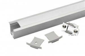 Tronix Flextape Channel | Alu | 2 meter | large frosted | recessed