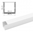 Tronix Flextape Channel | Alu | 2 meter | UV35 WH | frosted cover