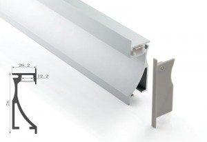Tronix Flextape Channel | Alu | 2 meter | Wall Light Recessed