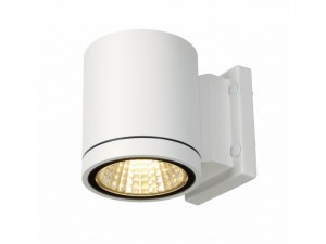 ENOLA_C OUT WL, wand armatuur, rond, wit, 9W LED, 3000K, 35° (228511)