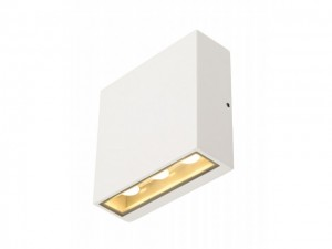 BIG QUAD wandlamp, vierkant, wit, 6x 1W LED, warm wit (232451)