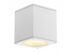 BIG THEO plafond OUT, plafond armatuur, vierkant, wit, ES111, max. 75W (229551 | 311269)