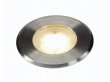 DASAR FLAT 230V LED, inbouw grondspot, rond, 4,3W LED, warmwit, inox cover (228412)