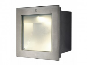 DASAR LED SQUARE edelstaal 1xLED 3000K asymm. (229383)