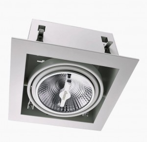 Recessed/Trimless fixture 1x AR111 | Full White | Adjustable