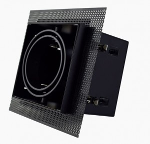 Recessed/Trimless fixture for AR70 | Full Black | Adjustable